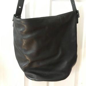 Black Crossbody Leather Bucket Bag | Coach